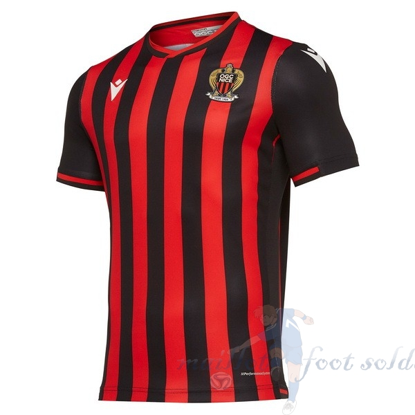 Pas Cher Maillot Foot Macron Domicile Maillot Nice 2019 2020 Rouge