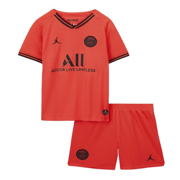 Pas Cher Maillot Foot JORDAN Exterieur Ensemble Enfant Paris Saint Germain 2019 2020 Orange