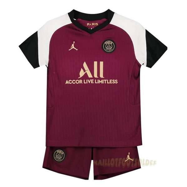 Pas Cher Maillot Foot JORDAN Third Conjunto De Enfant Paris Saint Germain 2020 2021 Bordeaux
