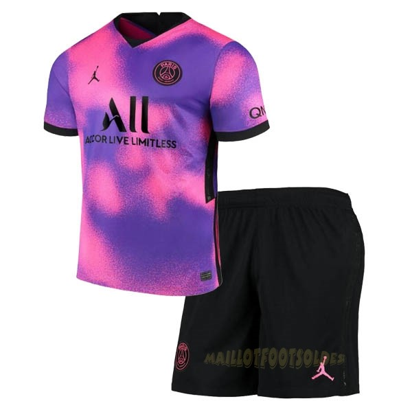 Pas Cher Maillot Foot JORDAN Third Conjunto De Enfant Paris Saint Germain 2020 2021 Purpura