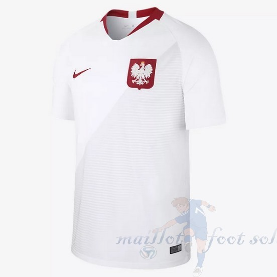 Pas Cher Maillot Foot Nike Domicile Maillot Pologne 2018 Blanc