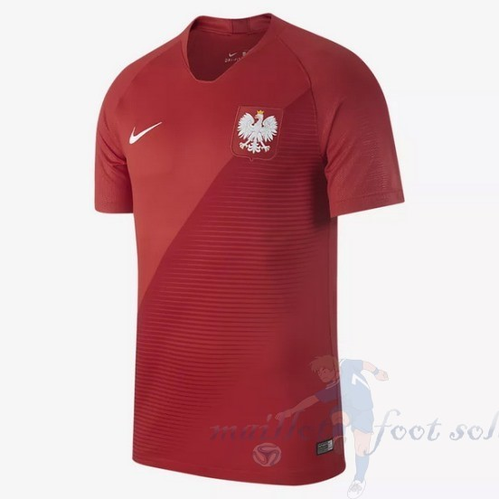 Pas Cher Maillot Foot Nike Exterieur Maillot Pologne 2018 Rouge