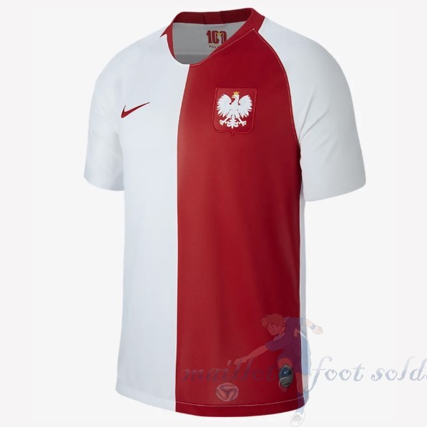 Pas Cher Maillot Foot Nike Maillot Pologne 100th Blanc Rouge