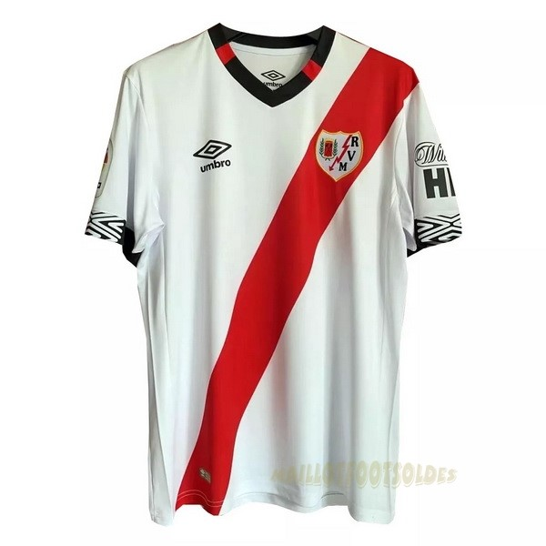 Pas Cher Maillot Foot umbro Domicile Maillot Rayo Vallecano 2020 2021 Blanc Rouge