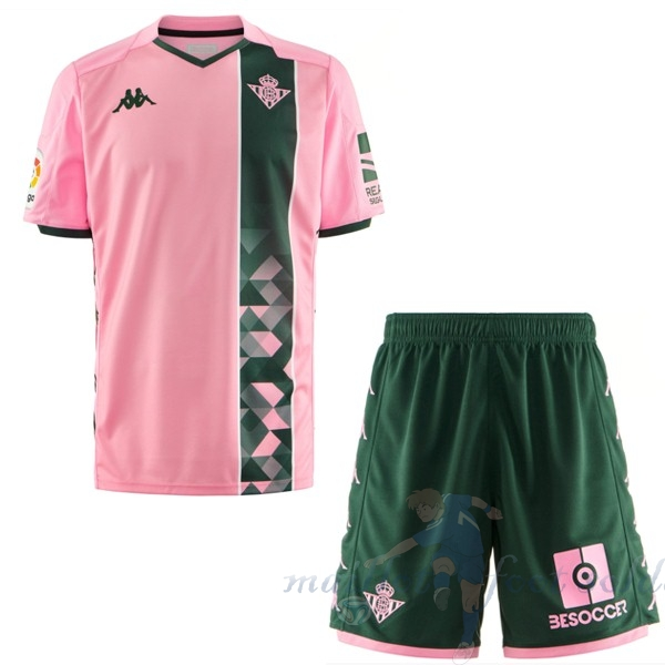 Pas Cher Maillot Foot Kappa Third Ensemble Enfant Real Betis 2019 2020 Rose