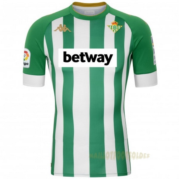 Pas Cher Maillot Foot Kappa Domicile Maillot Real Betis 2020 2021 Vert