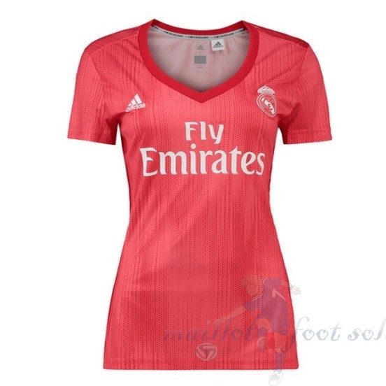 Pas Cher Maillot Foot Adidas Third Maillot Femme Real Madrid 2018 2019 Rouge