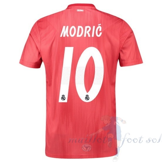 Pas Cher Maillot Foot Adidas No.10 Modric Third Maillot Real Madrid 2018 2019 Rouge