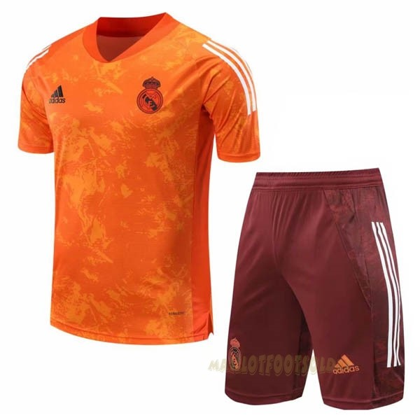 Pas Cher Maillot Foot adidas Entrainement Ensemble Complet Real Madrid 2020 2021 Orange