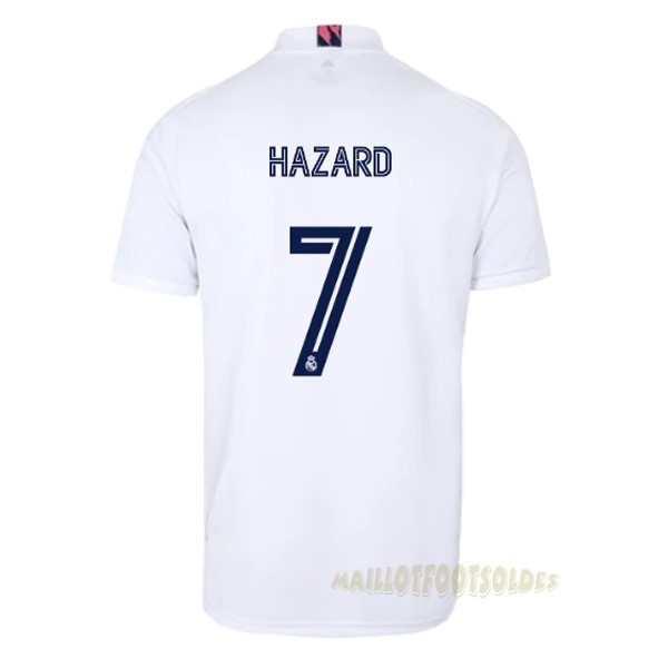 Pas Cher Maillot Foot adidas NO.7 Hazard Domicile Maillot Real Madrid 2020 2021 Blanc
