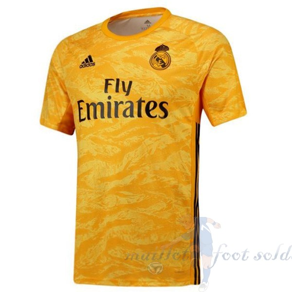 Pas Cher Maillot Foot Adidas Domicile Maillot Gardien Real Madrid 2019 2020 Amarillo