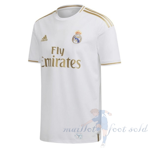 Pas Cher Maillot Foot adidas Thailande Domicile Maillot Real Madrid 2019 2020 Blanc