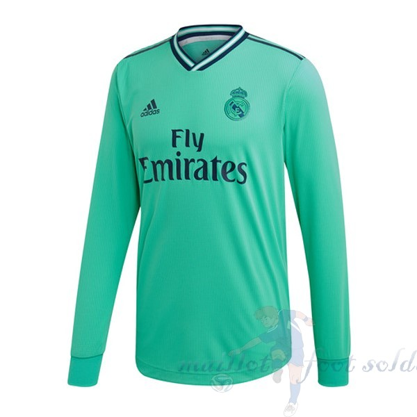 Pas Cher Maillot Foot adidas Third Manches Longues Real Madrid 2019 2020 Vert