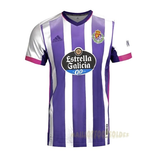 Pas Cher Maillot Foot adidas Domicile Maillot Real Valladolid 2020 2021 Blanc Purpura