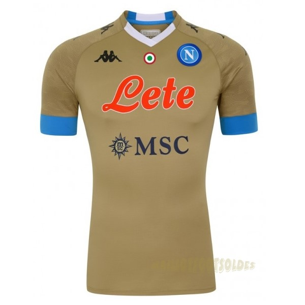 Pas Cher Maillot Foot Kappa Domicile Maillot Gardien Napoli 2020 2021 Marron