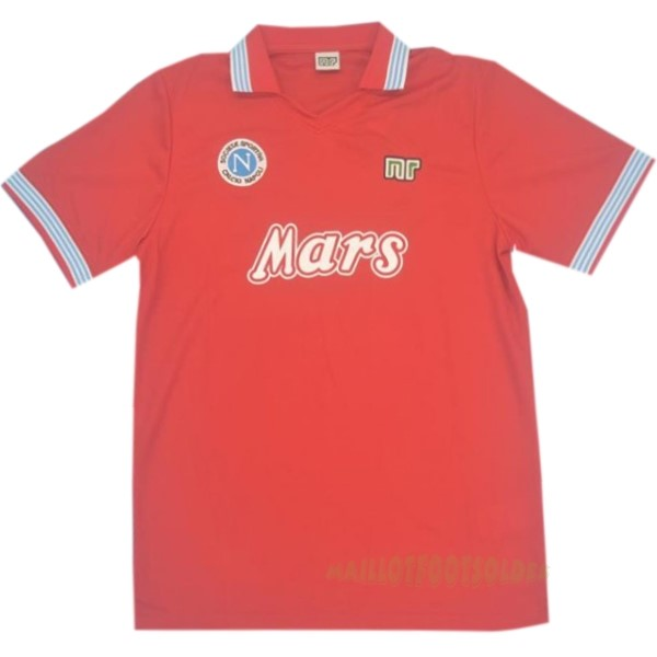 Pas Cher Maillot Foot Nike Third Maillot Napoli Rétro 1988 1989 Rouge