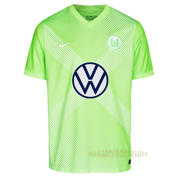 Pas Cher Maillot Foot Nike Domicile Maillot Wolfsbourg 2020 2021 Vert