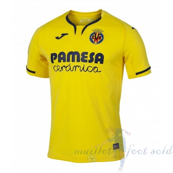 Pas Cher Maillot Foot Joma Domicile Maillot Villarreal 2019 2020 Jaune