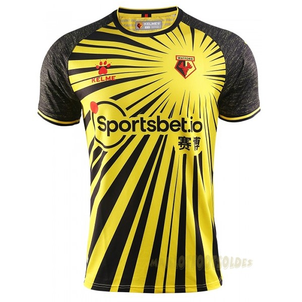 Pas Cher Maillot Foot adidas Domicile Maillot Watford 2020 2021 Jaune